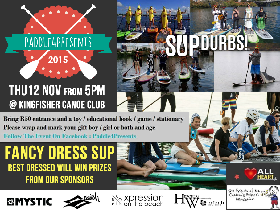 Paddle4Presents 2015 at King Fisher Canoe Club, Durban