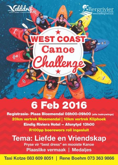 West Coast Canoe Challenge – Berg River – Saturday, 6 February