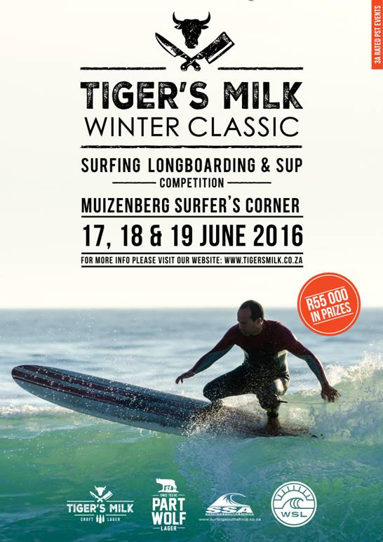 2016 Tiger's Milk Winter Classic adds an International flavour to the Muizenberg Corner menu this June