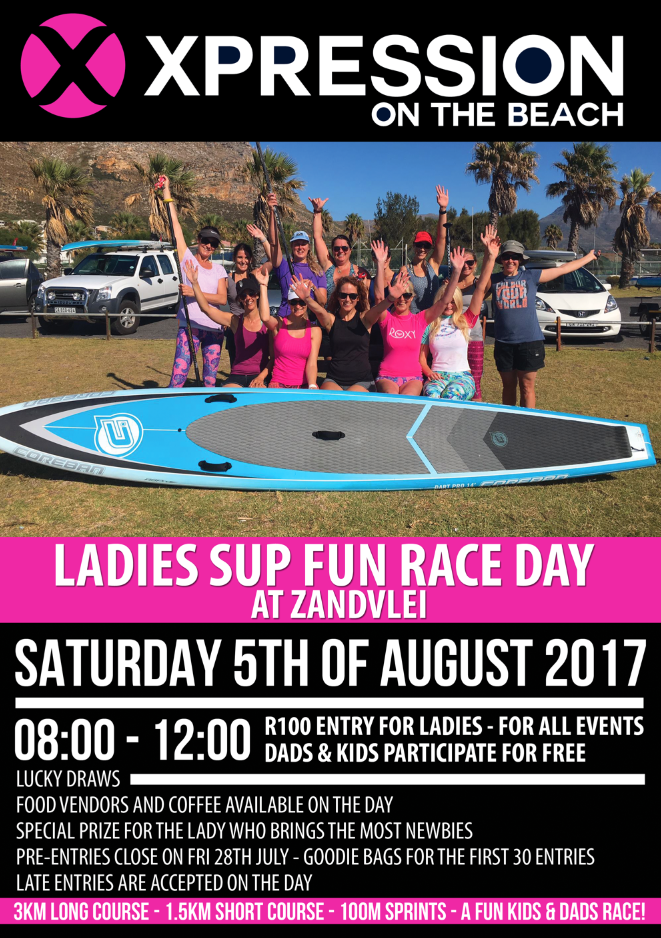 all ladies SUP race day with xpressions