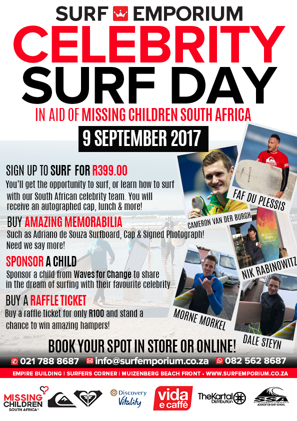 Surf Emporium Celebrity Surf Day Poster