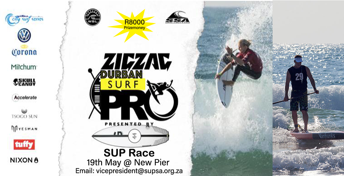 City Surf Series: Enter The Zigzag Durban Surf Pro SUP Race